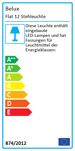 Flat 12 StehleuchteEnergy Label