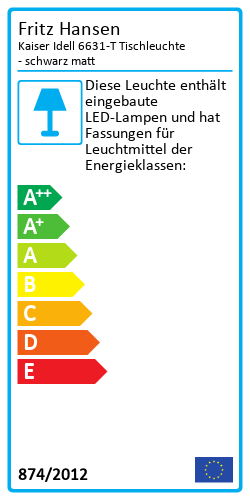 Kaiser Idell 6631-TEnergy Label