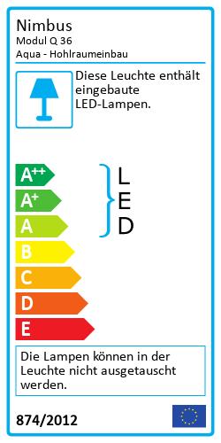 Modul Q 36 Aqua - HohlraumeinbauEnergy Label