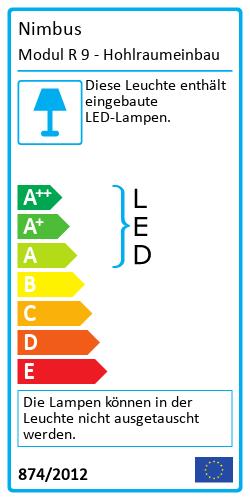 Modul R 9 - HohlraumeinbauEnergy Label