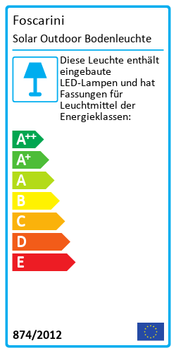 Solar Outdoor BodenleuchteEnergy Label