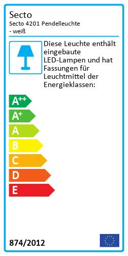 Secto 4201 PendelleuchteEnergy Label