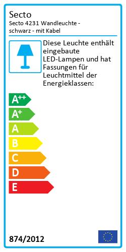 Secto 4231 WandleuchteEnergy Label