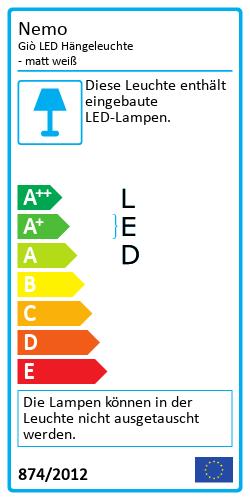Giò LED HängeleuchteEnergielabel
