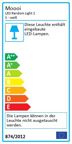 LED Random Light - WeißEnergy Label