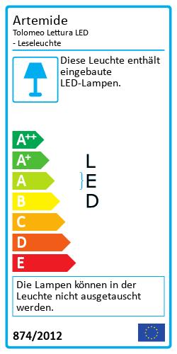 Tolomeo Lettura LED - LeseleuchteEnergielabel