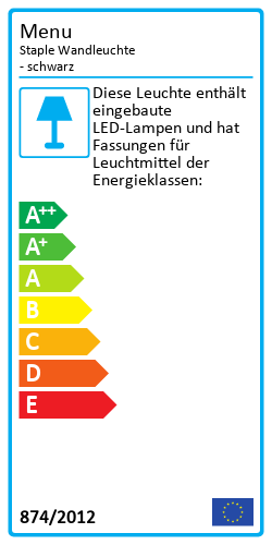 Staple WandleuchteEnergy Label