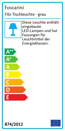 Filo TischleuchteEnergy Label