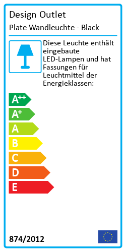 Plate WandleuchteEnergy Label