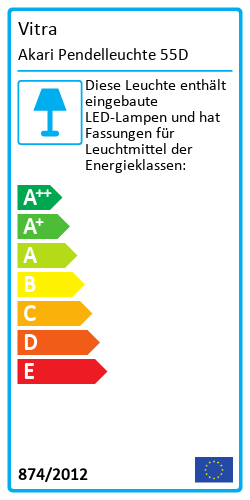Akari Pendelleuchte 55DEnergy Label