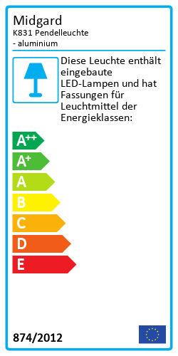 K831 PendelleuchteEnergy Label