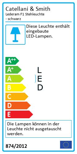 Lederam F StehleuchteEnergy Label