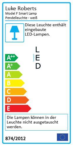 Model F Smart Lamp PendelleuchteEnergy Label