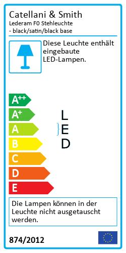 Lederam F0 StehleuchteEnergy Label