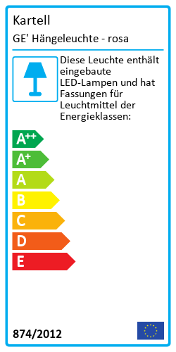 GE' HängeleuchteEnergy Label