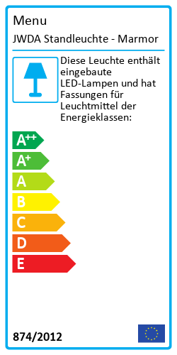 JWDA StandleuchteEnergy Label
